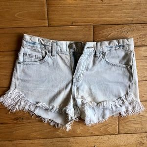 Free People high waisted light wash short